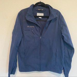 Columbia men's navy blue nylon jacket Sz M